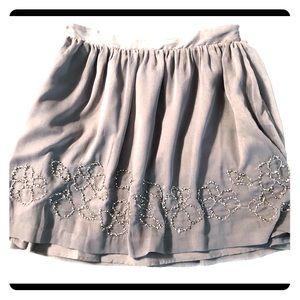 Jennifer Lopez Grey Embellished Mini Skirt Sz M